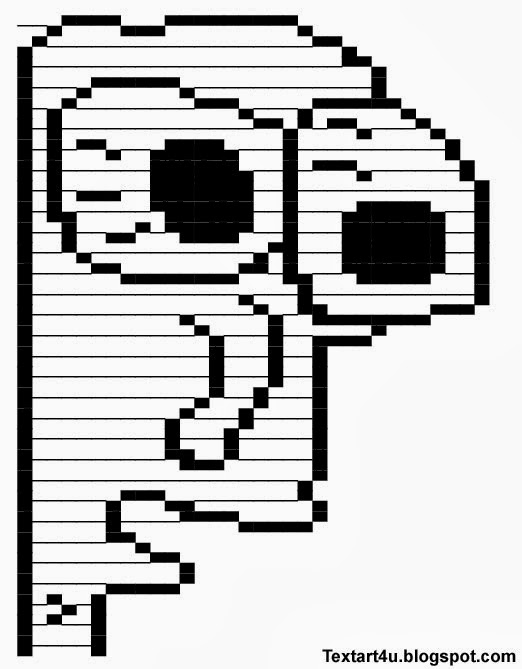 Milk face meme copy paste text art cool ascii text art 4 u
