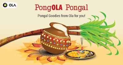 Free Pongal goodies from Ola Chennai