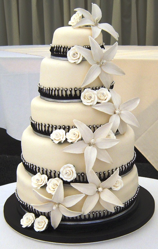 Amazing Black And White Wedding Cakes 40 Pic Awesome Pictures