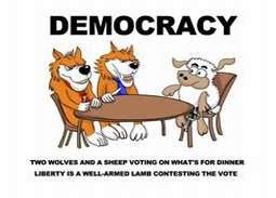 DEMOCRACY TABLE MENU