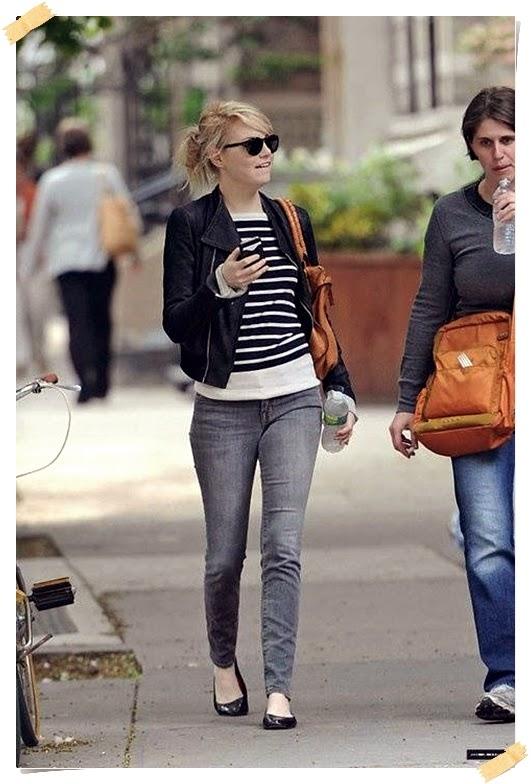 Casual Look Of Emma Stone Street Style | Celebrity Street
