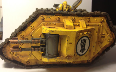Side View of the Imperial Fists Armoured Proteus Land Raider