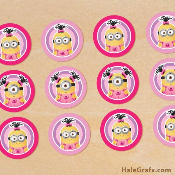 Mini Kit de Minions chicas  Ideas y material gratis para fiestas