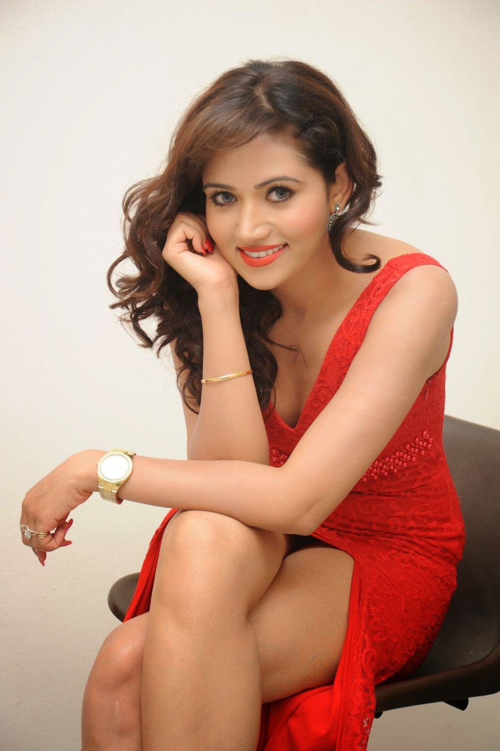 Preethi Rana latest glam pics in red-HQ-Photo-18