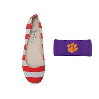 Clemson Tigers Flats / Clemson University Shoe Clips