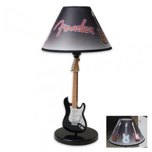 Fantastic Fender Black And White Guitar Table Lamp By Rabbit Tanaka Modern Furniture Ideas
