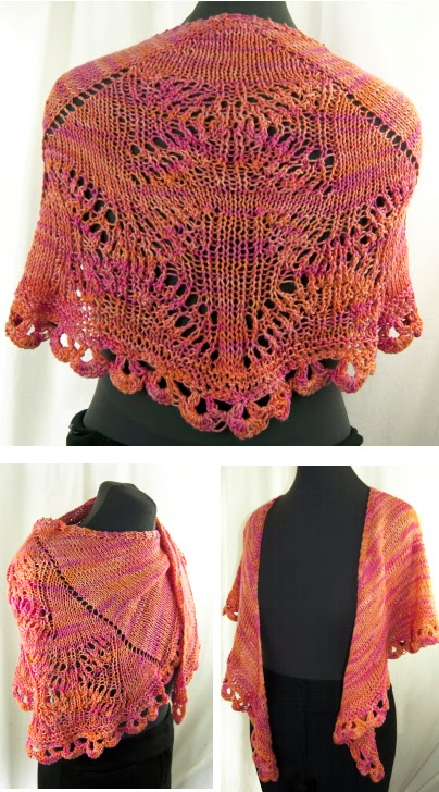 "FREE PATTERN: Shawlette using ""Sunseeker"" Yarn by Cascade Yarns"