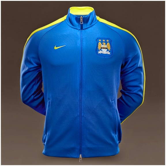 Nike N98 Man City FC Authentic Track Jacket FA - Game Royal Vibrant Yellow