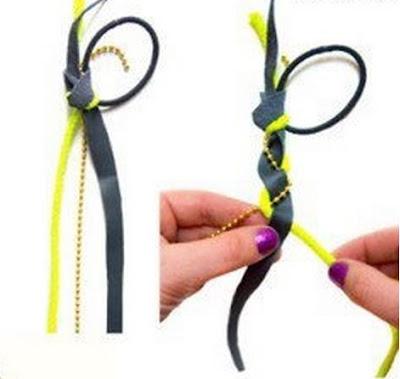 Membuat simpul dan bentuk baru 3 jenis tali