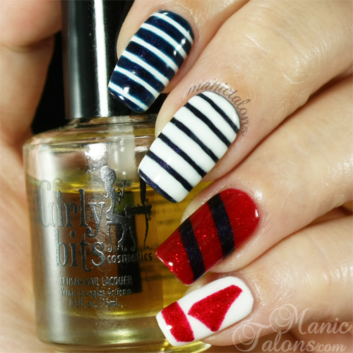 Manic Talons Nautical Manicure