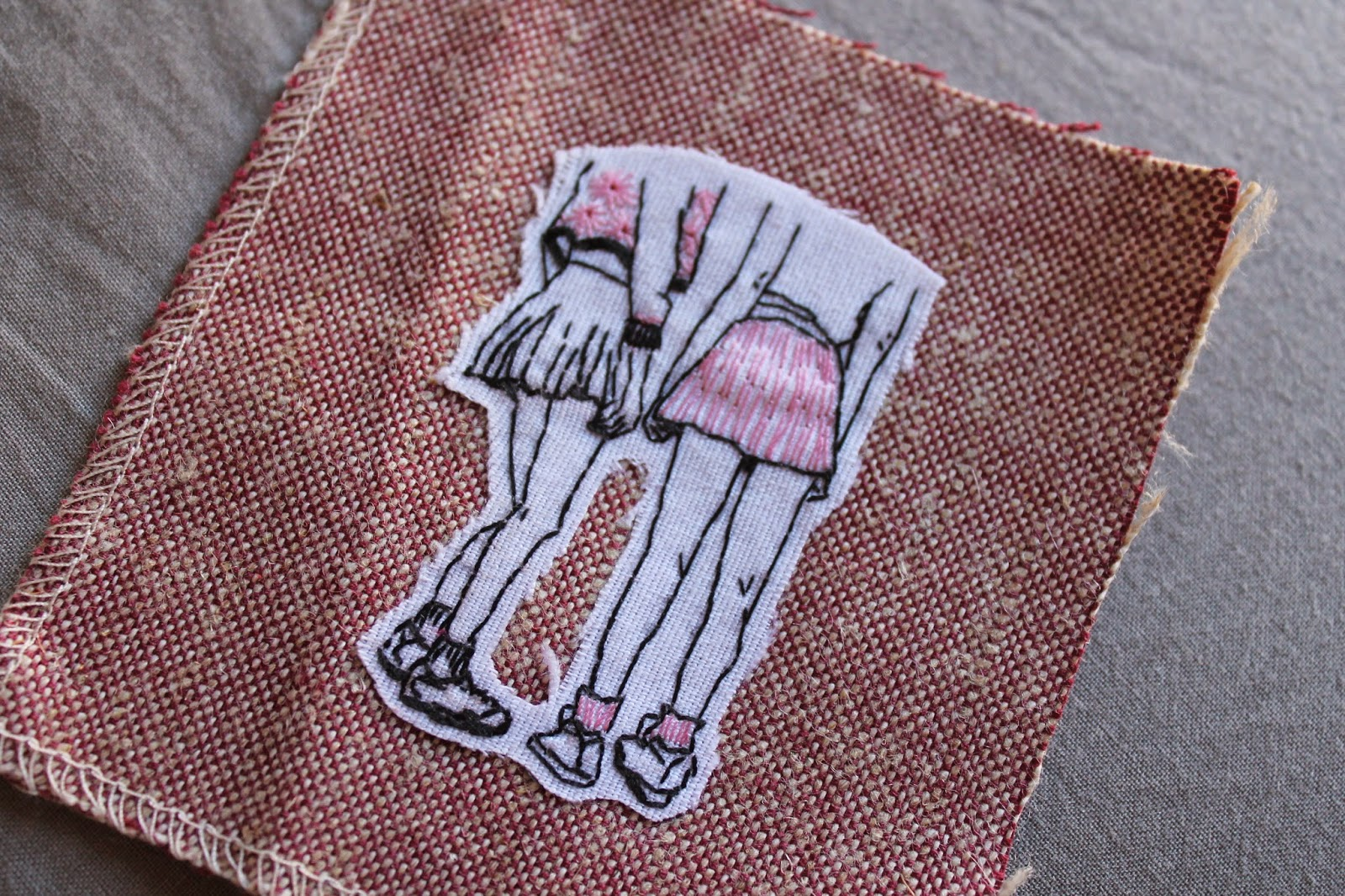 ilustracion bordada chicas