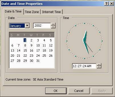 Time and Date Setting Komputer yang Salah