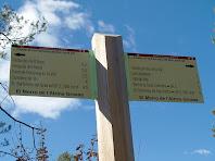 Indicador situat en el Morro de l'Alzina Grossa