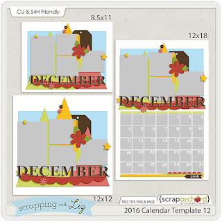 http://scraporchard.com/market/2016-Calendar-12-Digital-Scrapbook-Template.html