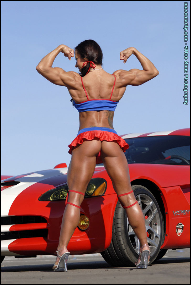 Patricia Beckman's Back Double Bicep Flex And Great Glutes