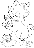 marie the cute kitten from the aristocats is the feature of this cute disney coloring page if you would like to print it to color it in simply click on - Aristocats Kittens Coloring Pages