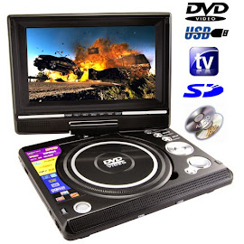 "dvd portable 7"", 9"", 12"", charger"