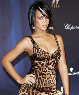 black bob hairstyles for 2010. celeb ob hairstyles.