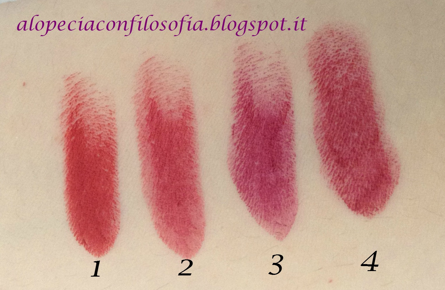 lavera, wild cherry, deep red, matt'n'plum, sweet brumble, kiss me deadly, alopeciaconfilosofia