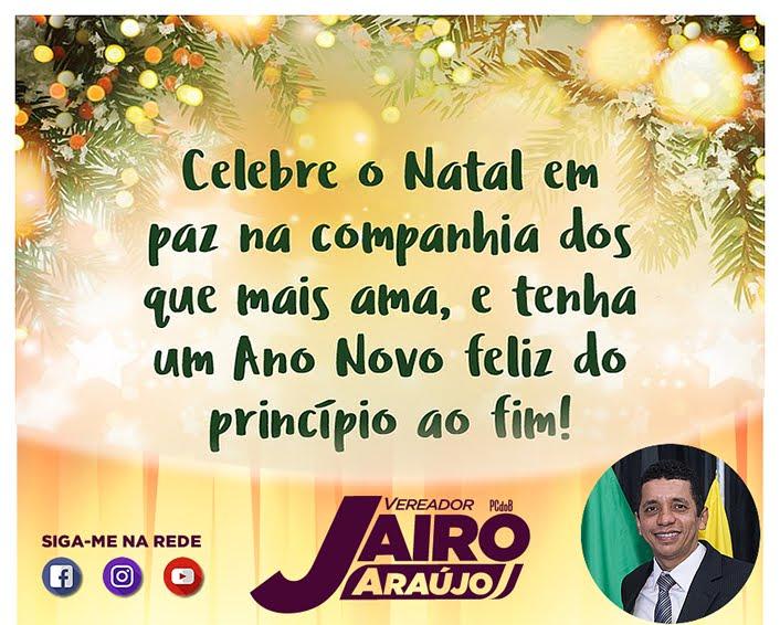 MENSAGEM DO VEREADOR JAÍRO ARAUJO