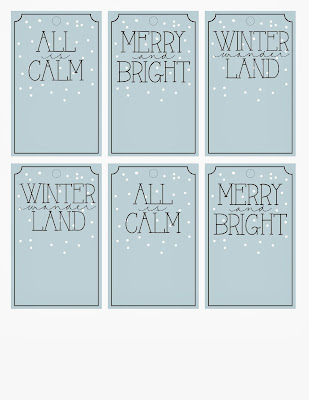 Printable Holiday Gift Tags at my3monsters.com