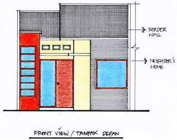 type rumah sederhana on Gambar: Tampak Depan Bangunan