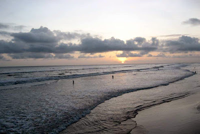 The eve of evening in Cox's Bazar Beach