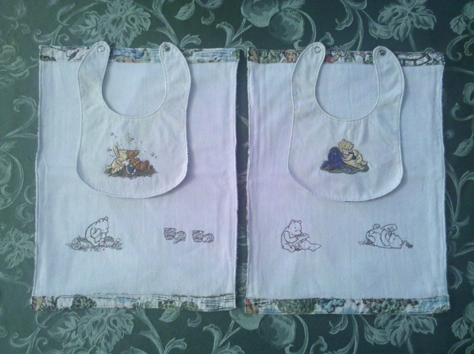 how to make baby bibs and burp cloths
