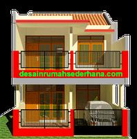desain perubahan rumah kpr type 21-72 2 lantai 4 kamar
