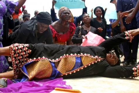 mothers school girls protest abuja