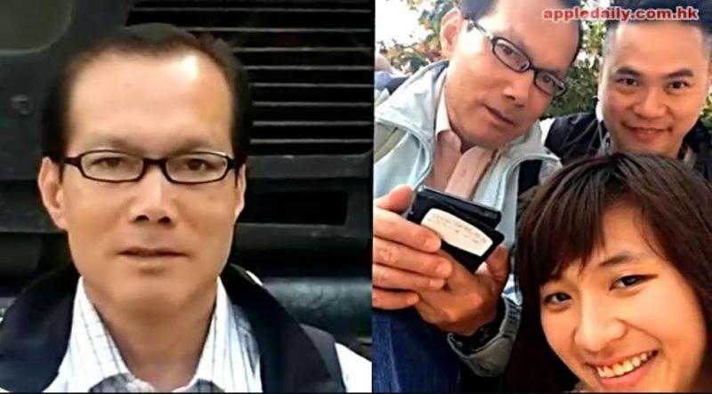 """(上图)经香港电影界人士核实,在镜头里""""被阻上班而大哭的港府工作人员""""原来是临时演员黄某"""