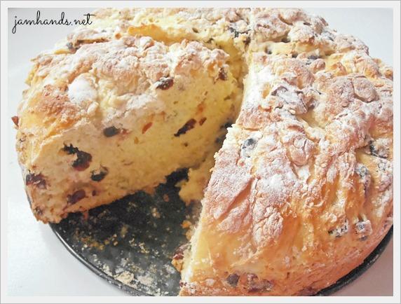 Jam Hands: Non Traditional Irish Soda Bread with Craisins
