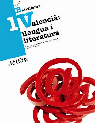 LIBROS DE TEXTO - Valencià . Llengua i literatura 1 Batxillerat (Anaya 2015) MATERIAL ESCOLAR | Comprar en Amazon