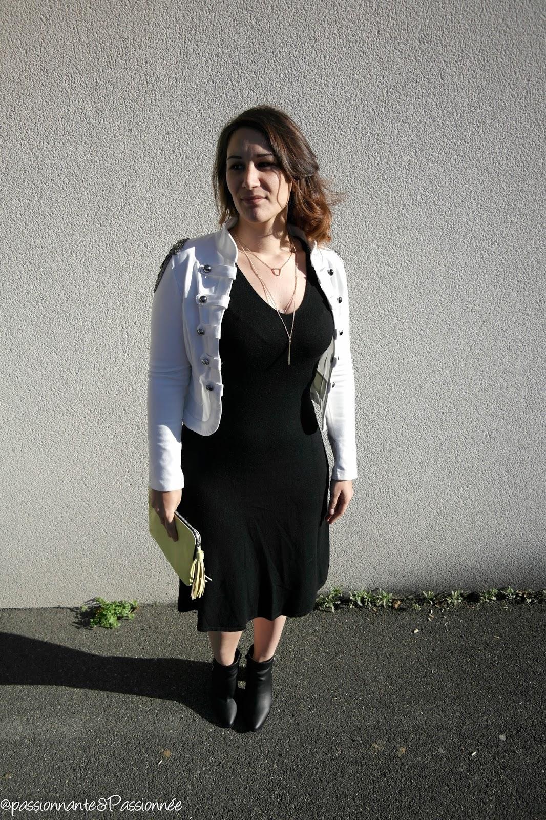 robe mi longue et bottines