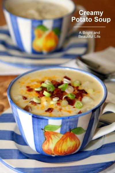 http://www.abrightandbeautifullife.com/creamy-potato-soup/