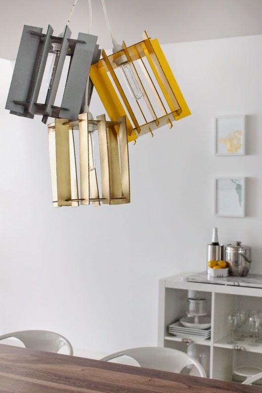 lamparas con carton reciclado tutorial. Black Bedroom Furniture Sets. Home Design Ideas