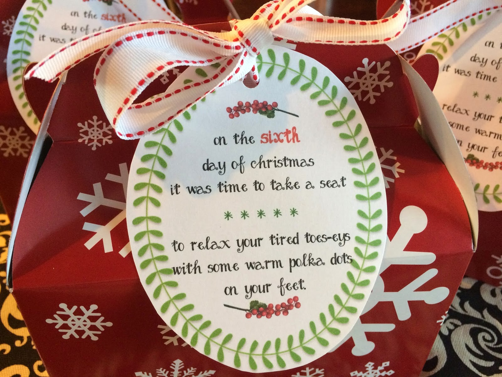 in my etsy shop here - 12 Days Of Christmas For Neighbors