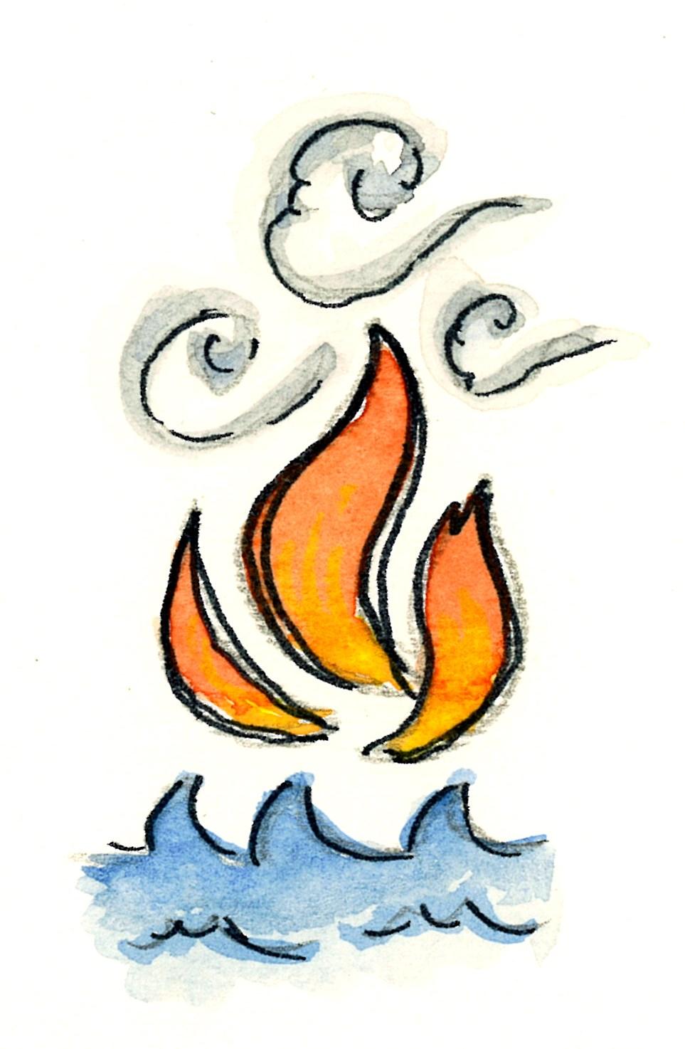 Estremamente Fiamma dello Spirito Santo 2 (acquerello)   Tu 6 Bellezza! FH93
