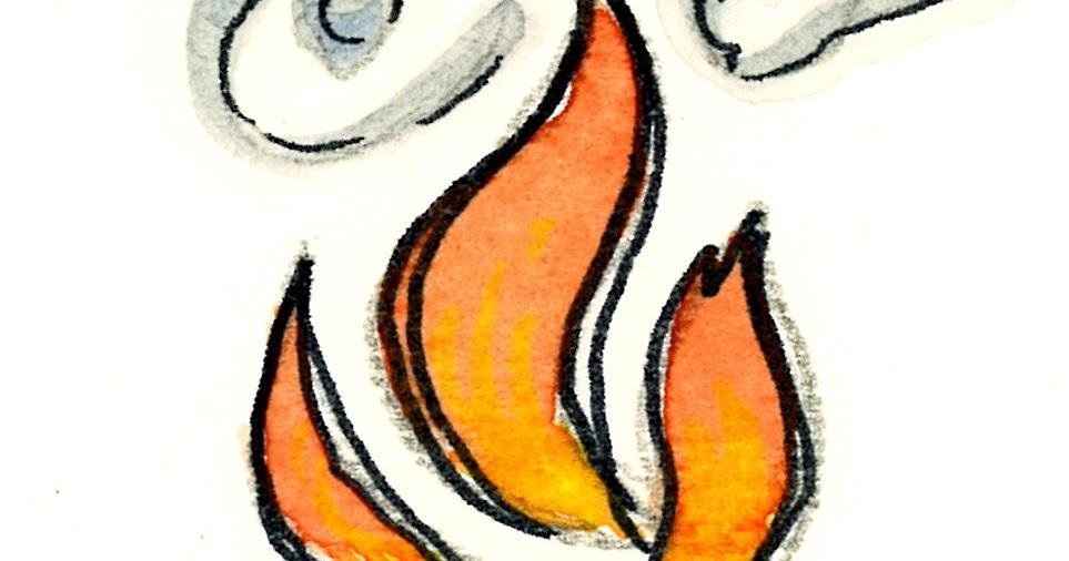 Favoloso Fiamma dello Spirito Santo 2 (acquerello)   Tu 6 Bellezza! XF09