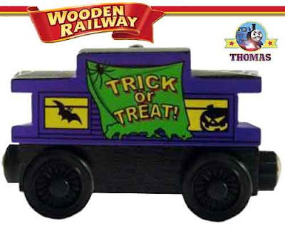 Trick or treat spectacular spooky surprise Happy Halloween Caboose Thomas the train wooden railway