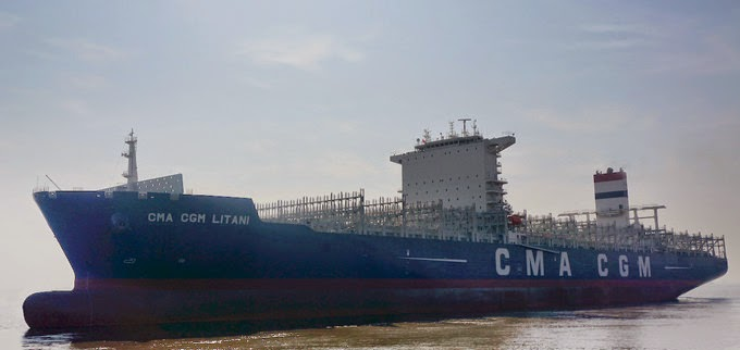 """TThe CMA CGM LITANI""(10622TEUs) enters into the CMA CGM fleet"