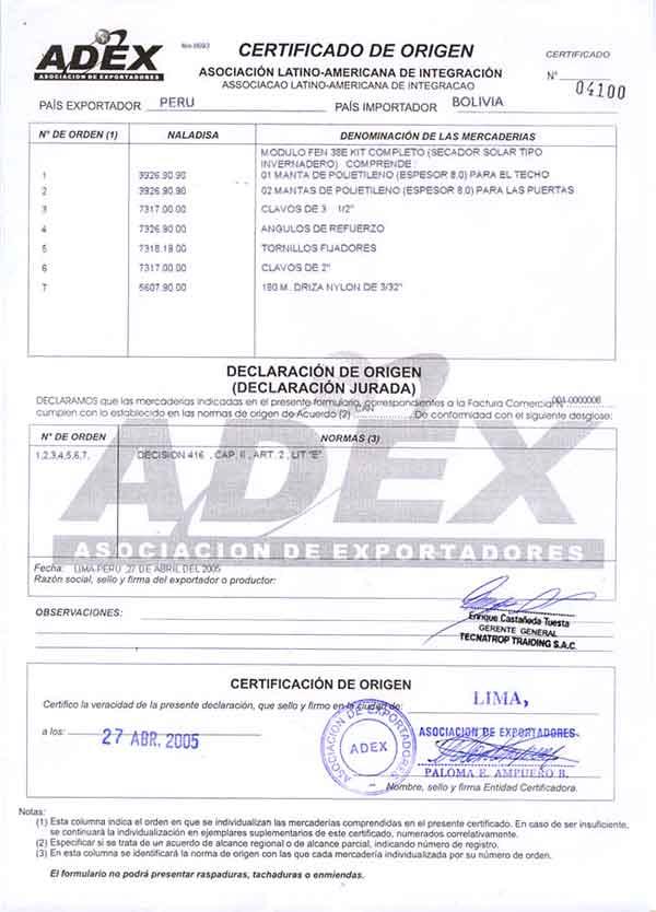 documentos que exige la aduana para la exportaci u00f3n del