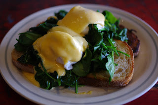 A classic but a goody, eggs florentine