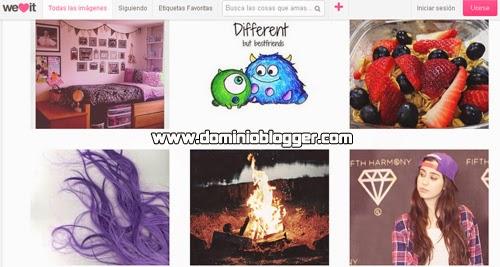 Comparte imágenes inspiradoras y positivas en WeHeartIt