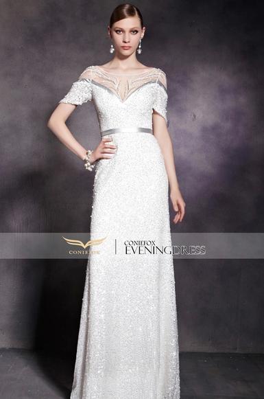 http://www.coniefoxdress.com/ShopByCollections/Margaret/Beaded-White-Elegant-V-Neck-Satin-Prom-dress/prod1543.html
