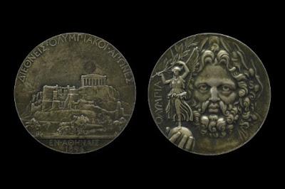 Medalla Juegos olímpicos Atenas 1896