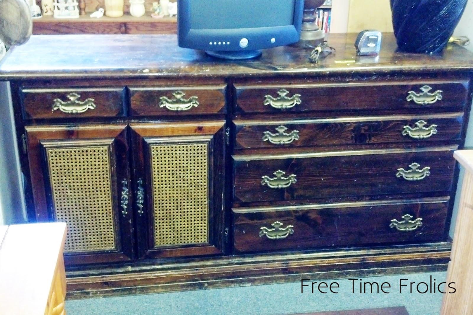 old dresser before redo