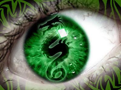 Beautiful Green Dragon EyeDesign