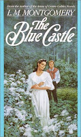 cover of The Blue Castle by L.M. Montgomery shows Valancy and Barney Snaith