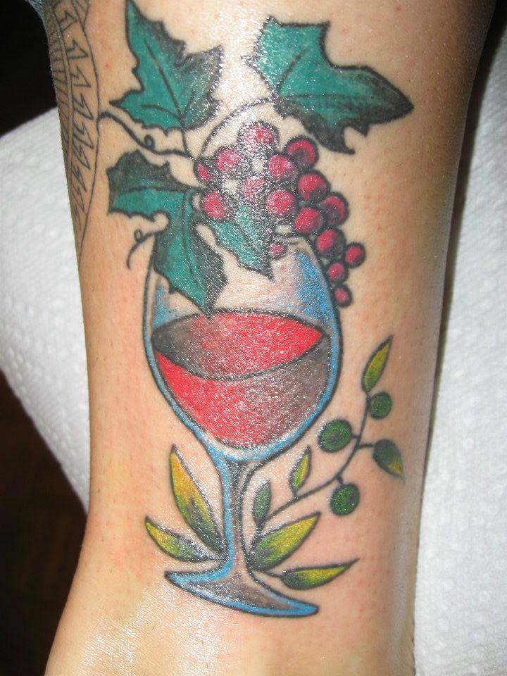wine and wine bottle tattoos. Black Bedroom Furniture Sets. Home Design Ideas
